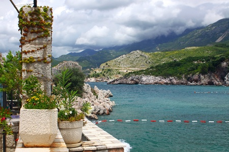 seacoast: Summer view of Adriatic seacoast in Przno, Montenegro