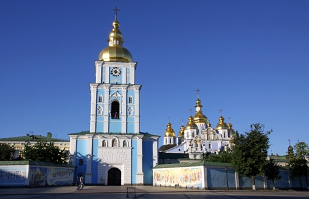 St. Michael's Golden-Domed Cathedral - the famous church complex in Kyiv, Ukraine Stock Photo - 9883964