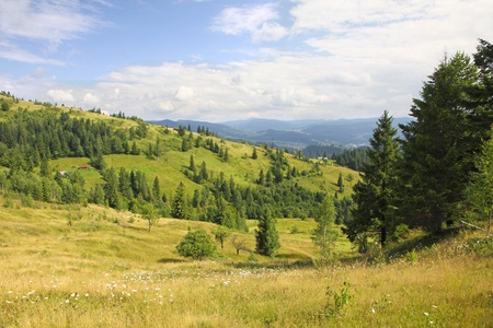 Mountains landscape near Yaremche village in Carpathians, Ukraine Stock Photo - 11589578