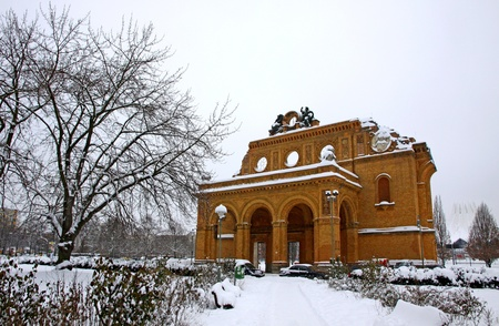 bombed city: Ruins of Anhalter Bahnhof in Berlin, Germany