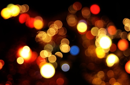 Abstract circular bokeh background of Christmaslight Stock Photo - 11589583