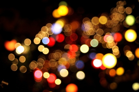 Abstract circular bokeh background of Christmaslight photo