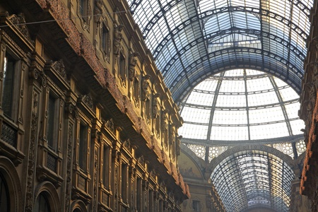 Galleria Vittorio Emanuele shopping Center in Milan, Italy Stock Photo - 12559337