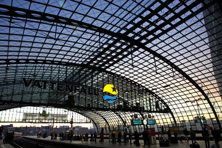 BERLIN, GERMANY - JANUARY 3, 2012: Berlin Hauptbahnhof - central railway station in Berlin, Germany