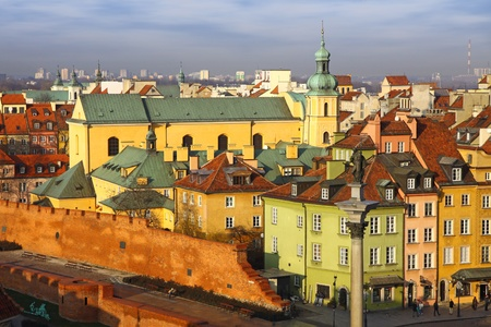 Buildings at Old Town Square (Plac Zamkowy) in Warsaw, Poland Stock Photo - 13022341