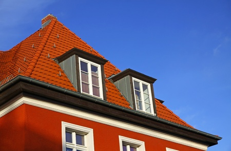 Close-up typical german residential house in Frankfurt Oder