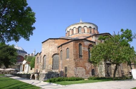 Hagia Irene church  Aya Irini  in the park of Topkapi Palace in Istanbul, Turkey photo