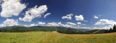 Panoramic view of beautiful summer Carpathian mountains, Ukraine Stock Photo - 15505544