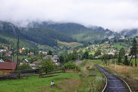 Rural view of Vorokhta village in Carpathian mountains, Ukraine Stock Photo - 15608285
