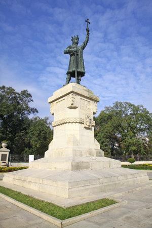 cel: Monumento di Stefan cel Mare SI Sfant (Stefano il Grande e Santo), nel centro di Chisinau, Moldova
