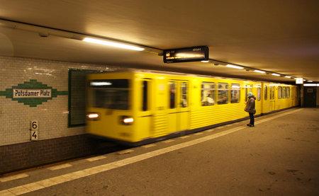 u bahn: Potsdamer Platz U-bahn (metro) station at Berlin, Germany