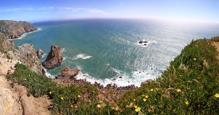 Panoramic view of the most western point of Europe, Cabo da Roca, Portugal photo