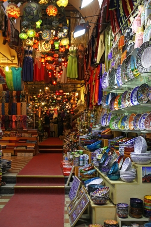 Grand bazaar shops in Istanbul, Turkey