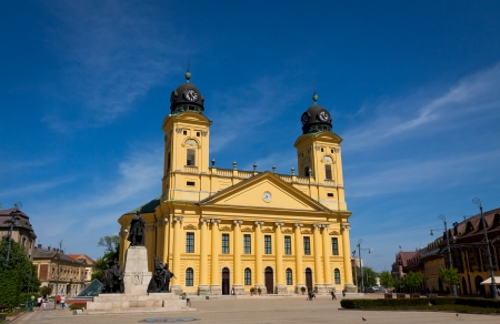 Reformed Great Church in Debrecen city, Hungary 新聞圖片