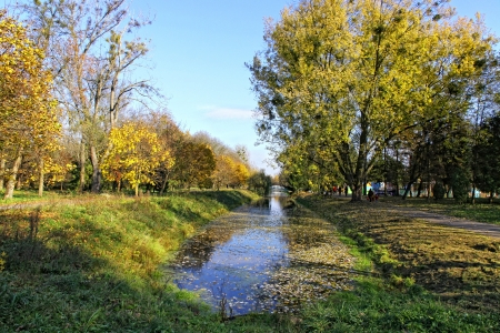Central Park of Lutsk city in early autumn, Ukraine photo
