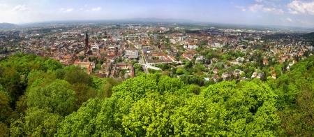 freiburg: Panoramic view of Freiburg im Breisgau city, Baden-Wurttemberg state, Germany
