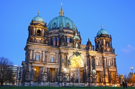 Berlin Cathedral  Berliner Dom  at evening, Berlin, Germany