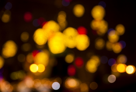 Abstract circular bokeh background of Christmas lights photo