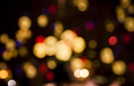 Abstract circular bokeh background of Christmas lights photo
