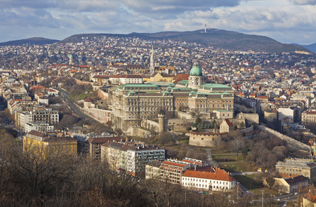 castle district: View of Buda Castle district, Budapest, Hungary