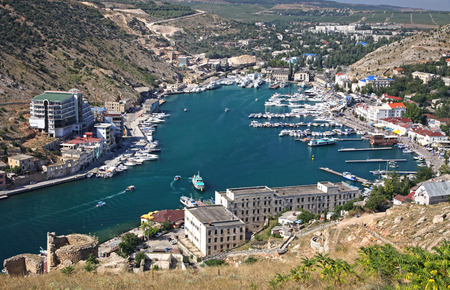 Aerial view of Balaklava bay near Sevastopol, Crimea, Ukraine photo