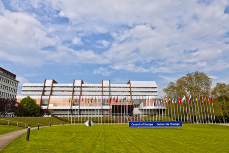 STRASBOURG, FRANCE - MAY 6, 2013  Building of Parliamentary Assembly of the Council of Europe  Assembly was founded in 1949, and now is one of the two statutory organs of the Council of Europe