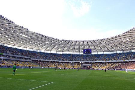 luhansk: KYIV, UKRAINE - MAY 18, 2014  Olympic stadium  NSC Olimpiyskyi  during Ukraine Championship game between FC Dynamo Kyiv and FC Zorya Luhansk