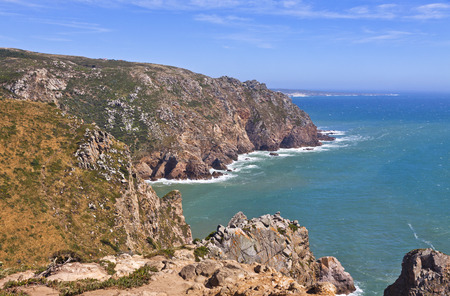 roca: Cabo da Roca - the most western point of Europe, Portugal Stock Photo