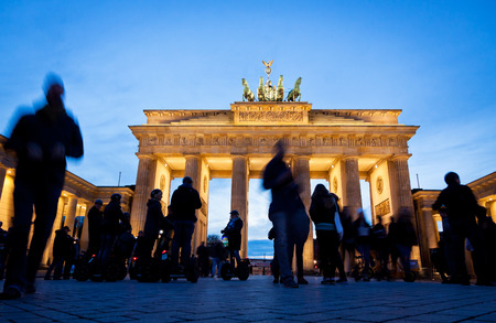 Brandenburg Gate in Berlin, Germany. It was built between 1788 and 1791 and now is the most famous and well-known landmarks of Germany