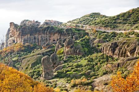 monasteri: Meteora Rocce e monasteri, regione di Trikala, Grecia Archivio Fotografico