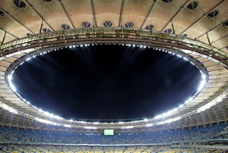 olimpiysky: KYIV, UKRAINE - NOVEMBER 11, 2011: View of Olympic stadium (NSC Olimpiysky) before friendly football game between Ukraine and Germany on November 11, 2011 in Kyiv, Ukraine Editorial