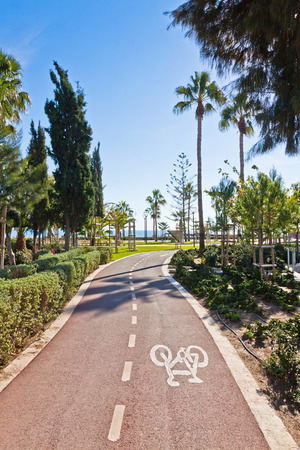 Cycle lanes at the Molos park in Limassol city, Cyprus photo