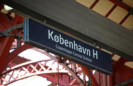 railtrack: COPENHAGEN, DENMARK - JULY 28, 2012: Central Railway Station in Copenhagen, Denmark (Kobenhavns Hovedbanegard). It is the largest railway station in Denmark with 7 platforms and 13 tracks