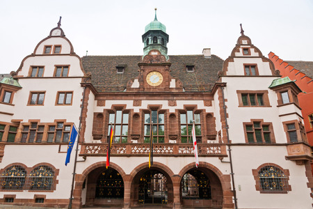 Old Town Hall Altes Rathaus in Freiburg im Breisgau city BadenWurttemberg state Germany. The building was completed in 1559