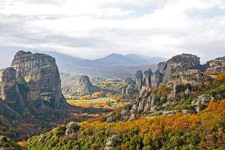 kalampaka: Meteora Rocks and Monasteries, Trikala region, Greece Stock Photo