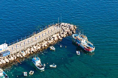 seacoast: Small bay with breakwater in Sorrento seacoast, Gulf of Naples, Italy