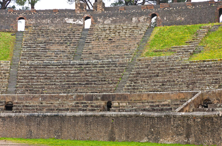 amphitheatre: Amphitheatre in ancient Roman city of Pompei, Italy. Its the oldest surviving Roman Amphitheatre. Pompei was destroyed and buried with ash after Vesuvius eruption in 79 AD
