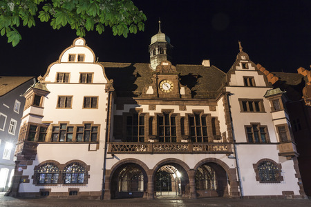 freiburg: Old Town Hall Altes Rathaus in Freiburg im Breisgau city, Baden-Wurttemberg state, Germany. The building was built in 1559