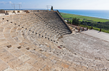 amphitheatre: Ancient Greco-Roman amphitheatre in Kourion, Cyprus Stock Photo