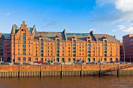 disctrict: Speicherstadt disctrict in Hamburg, Germany. This largest warehouse district in the world received the UNESCO world heritage status in July 2015
