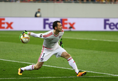 proto: LVIV, UKRAINE - March 10, 2016: Goalkeeper Silvio Proto of RSC Anderlecht in action during UEFA Europa League Round of 16 game against FC Shakhtar Donetsk at Lviv Arena in Lviv Editorial