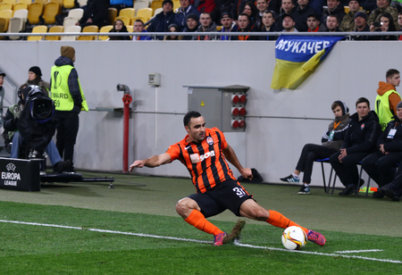 rsc: LVIV, UKRAINE - March 10, 2016: Ismaily of FC Shakhtar Donetsk in action during UEFA Europa League Round of 16 game against RSC Anderlecht at Lviv Arena stadium in Lviv