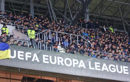 rsc: LVIV, UKRAINE - March 10, 2016: Tribunes of Arena Lviv stadium during UEFA Europa League Round of 16 game FC Shakhtar Donetsk vs RSC Anderlecht, Lviv, Ukraine