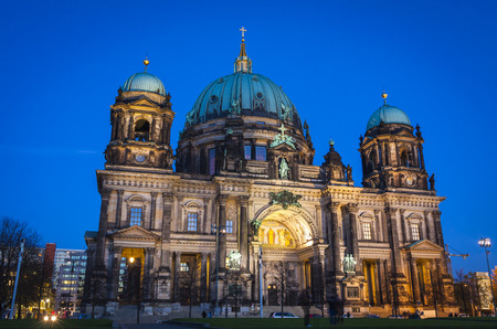 dom: Evening view of Berlin Cathedral (Berliner Dom), Berlin, Germany