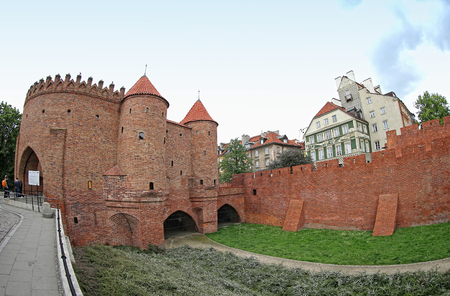outpost: Warsaw Barbican (Polish: Barbakan Warszawski), semicircular fortified outpost in Warsaw city, Poland. Located between the Old and New Towns, it is a major tourist attraction Editorial