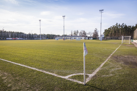 camping pitch: Football (soccer) training field