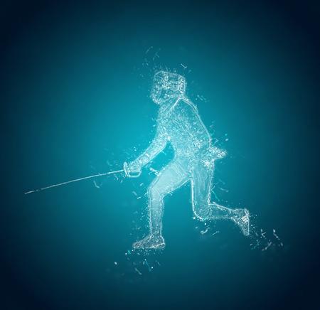 esgrimista: Resumen Sabre Esgrimidor. efecto de cristales de hielo