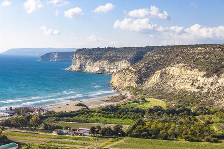 Mediterranean seacoast near Pissouri village, Limassol district, Cyprus