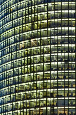 ag: The Bahntower, a 26-story, 103 m skyscraper on Potsdamer Platz in Berlin, Germany. Headquarters of Deutsche Bahn AG. It is the sixth-tallest building in Berlin