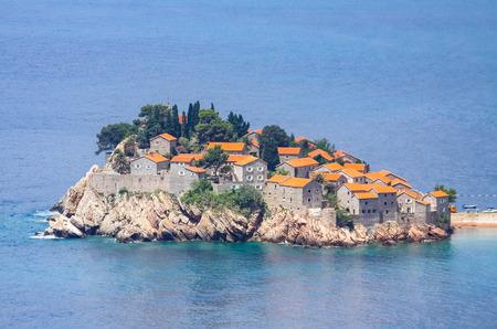 stephen: View of Sveti Stefan island, beautiful resort on Adriatic sea in Montenegro